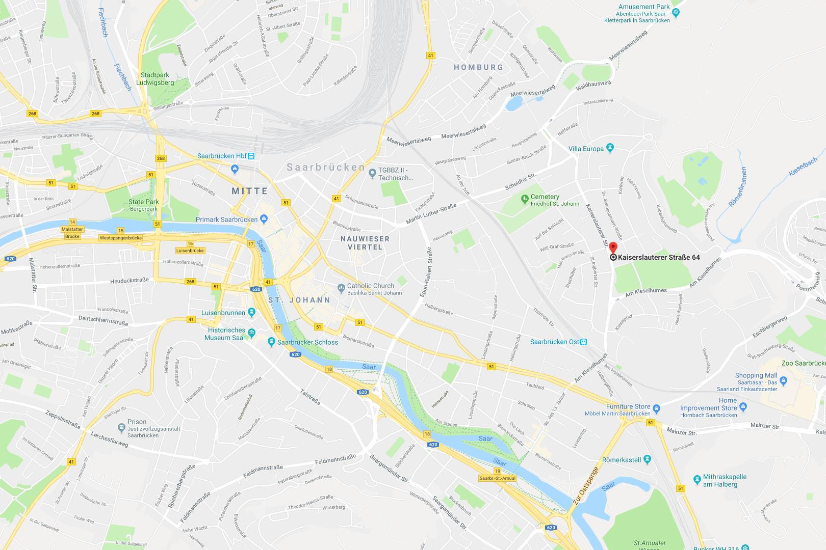 Karte: Saarbrücken > PC & Computer Service ✗ Kelkheim ✗ Saarbrücken > XPert-PC